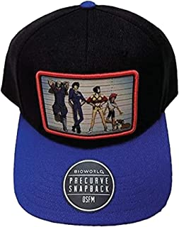 Cowboy Bebop Patch Snapback Hat Blue and Black Adult