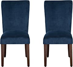 navy blue parsons dining chairs