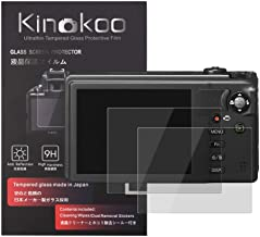 kinokoo 液晶保護フィルム リコー Ricoh デジタルカメラ CX6/CX5/CX4/CX3/CX2/CX1専用 硬度9H 高透過率 耐指紋 気泡無し 強化ガラス 厚さ0.3mm 2枚セット 標識クロス付き(CX6/CX5/CX4/CX...