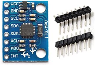 Panamami 3V-5v 2.54mm Pitch Chip Incorporado 16 bit AD convertidor GY-521 6 DOF M/ódulo MPU-6050 Aceler/ómetro de 3 Ejes M/ódulo de giroscopio para Arduino