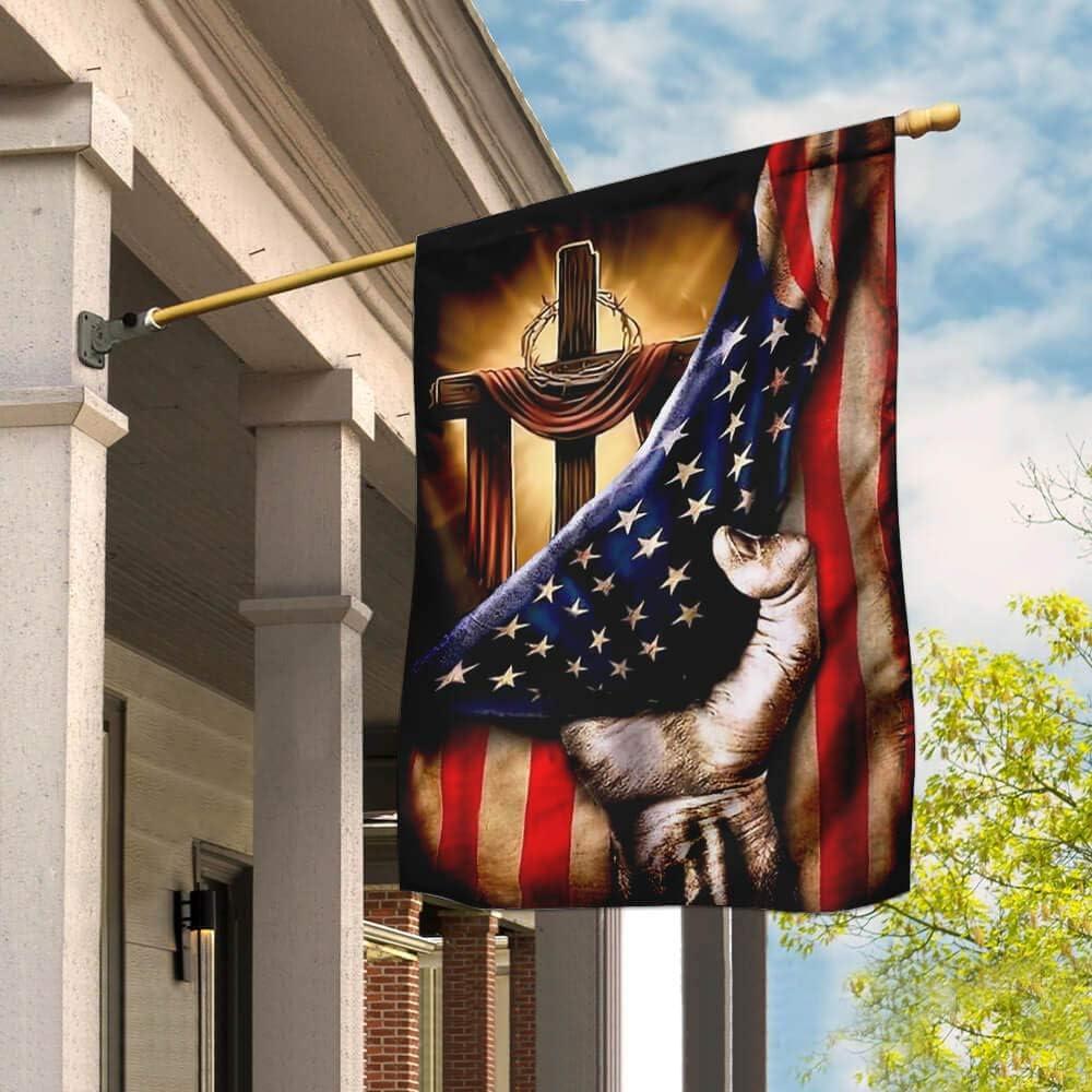 ついに入荷 Flags-Christian Cross - 定番から日本未入荷 Jesus Flag House 29.5