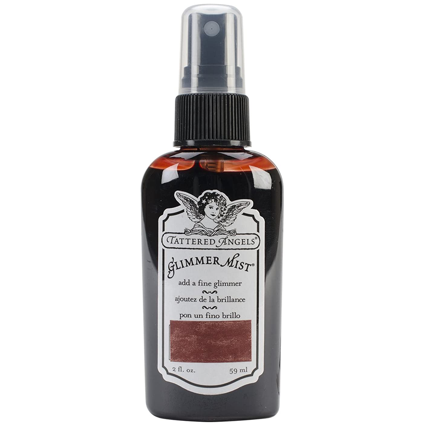 Tattered Angels GLM-21359 Glimmer Mist, 2-Ounce, Rusty Red