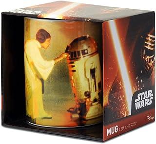 Logoshirt - Star Wars Taza de Cafe - Leia and R2-D2 - La Guerra de Las Galaxias Taza - Multicolor - Diseño Original con Licencia