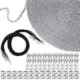 EuTengHao Collar cadena de joyería de 40 pies con 100 anillos de salto y 30 cierres de la...