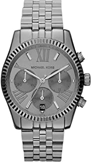 Michael Kors Stainless Steel Gunmetal Black Case, Band and Dial with Chronograph, Lexington Watch - MK5709