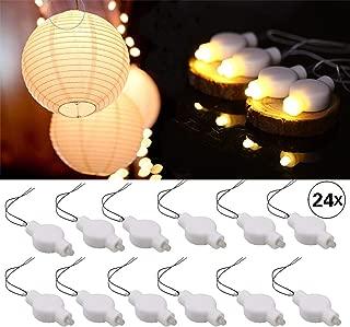 LOGUIDE Led Lantern Lights,24 Pack Warm White,LED Lights for Paper Lanterns Balloons Floral Festival Decoration String Lights