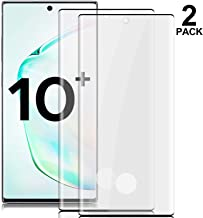 GMLS Note 10+ Screen Protector,Cafetec [9H Hardness][Anti-Fingerprint][Anti-Scratch] Tempered Glass Screen Protector Compatible with Samsung Galaxy Note 10+ Black