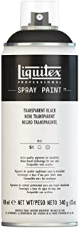 Liquitex Professional - Acrílico en spray 400ml negro transparente