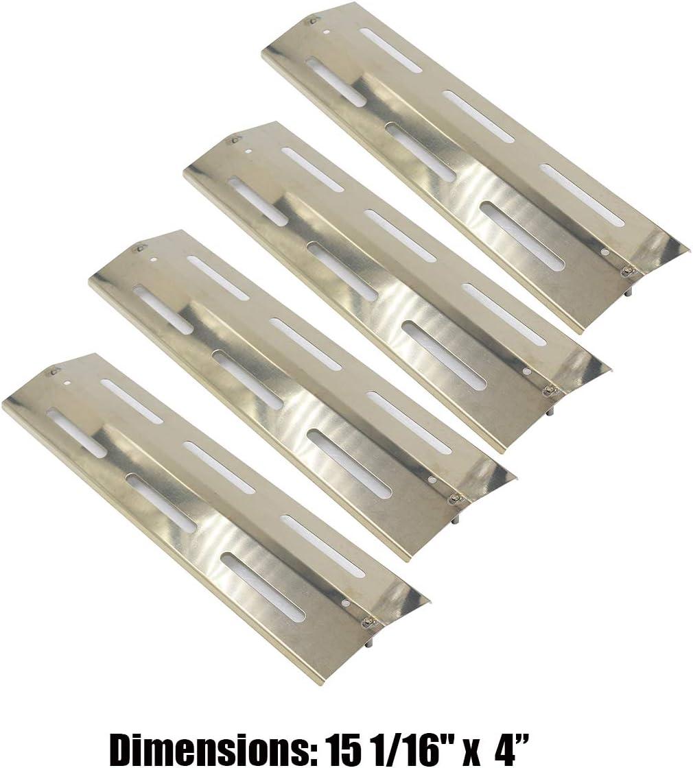 Bar. bqs 91631 (5-Pack) Placa de Calor de Acero Inoxidable para Barbacoa, Escudo de Calor, Calor Quemador de Tienda de campaña, Cover, vaporizor Bar