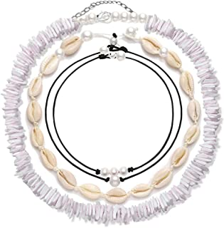 4 Pcs Shell Choker Necklace Puka Chips 14 16 18 inch...