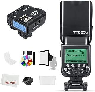Godox Flash TT685C 2.4GHz HSS 1 / 8000s GN60 Cámara Flash Speedlite con X2T-C X2C 2,4 GHz X System Trigger for Canon Camer...