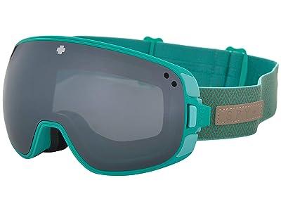 Spy Optic Bravo (Herringbone Mint Happy Gray Green w/ Silver Spectra+Happy Yellow) Snow Goggles