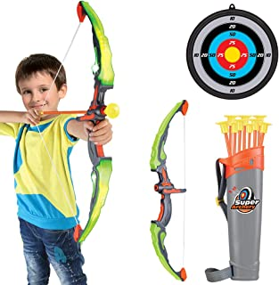 Conthfut Bow and Arrow for Kids with LED Flash Lights - Archery Bow with 9 Suction Cups Arrows, Target, and Quiver, Practi...