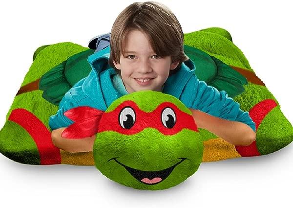 Nickelodeon TMNT Jumboz 枕头 Petz 地板枕拉斐尔 30 毛绒动物毛绒枕头