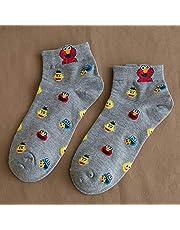 Calcetines Calcetines de Mujer Boca Baja algodón Puro Primavera y Verano Dibujos Animados Finos Lindos Calcetines de Barco de Marea en el Tubo