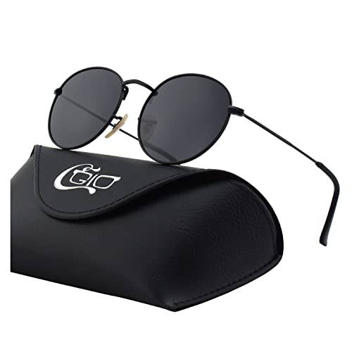 dafdd97c28b CGID E01 Retro Vintage Style John Lennon Inspired Round Metal Circle  Polarized Sunglasses with Gift Package