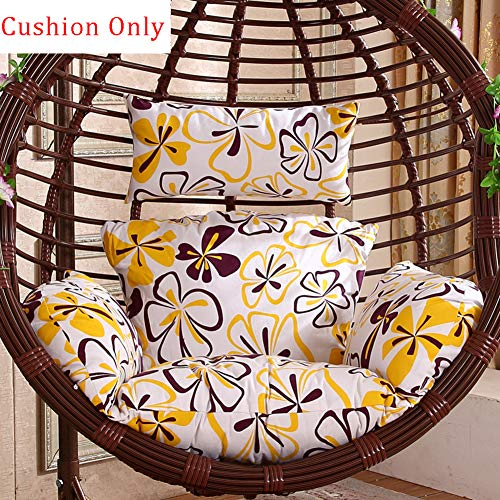 DANODAN Cotton Upholstered Seat Cushion With Removable Cover,Hanging Wicker Swing Chair Cushion Without Stand,Hammock Chair Cushion Only G