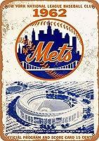New York Mets ティンサイン ポスター ン サイン プレート ブリキ看板 ホーム バーために