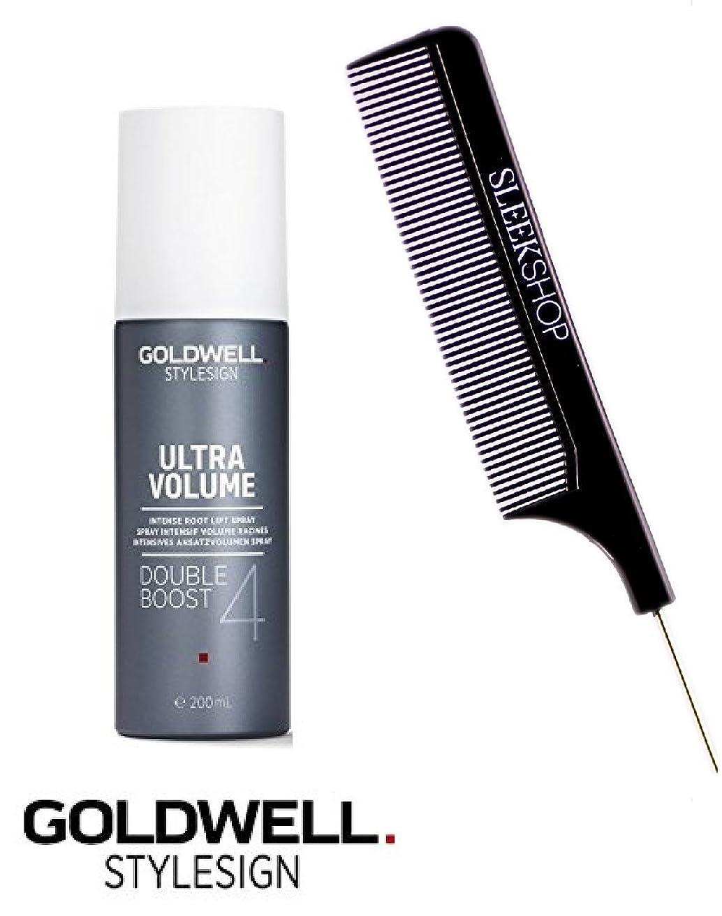 油授業料Goldwell Stylesignウルトラボリュームダブルブースト4インテンスルートリフト(なめらかなスチールピンテール櫛で)6.2オンススプレー