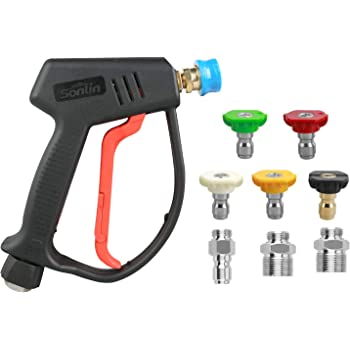 Stock 280 Bar-4000PSI High Pressure Power Washer Spray Gun/&5*Nozzles Tips Kit