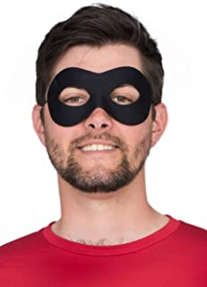 Superhero Black Eye Mask Costume Accessory