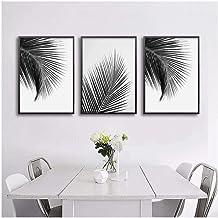 Zhaoyangeng Poster en prints op canvas, palm in zwart en wit, minimalistische schilderijen, wanddecoratie, 40 x 50 cm, zon...