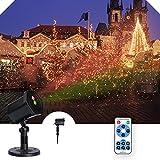 Proiettore Luci Natale, Proiettore Natale Esterno Impermeabile IP65 con Telecomando, Proiettore Lampada Natale, LED Illuminazione Natalizia per Interno & Esterno Natale Decorazione