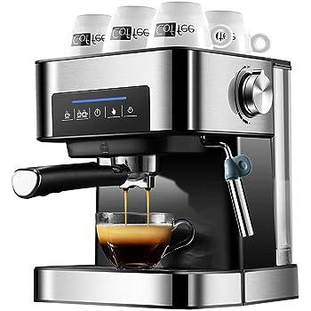 YUEWO Cafetera Espresso automática, 850W,Cafetera Express para Espresso y Capuccino,Depósito extraíble de 1,5L, 20 Bares, 2 Bebidas de Café,acero inoxidable: Amazon.es: Hogar