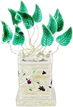 Giant Roots Designer Silver-Plated Tulsi Plant Pooja Decorative with Potli Bag(GGIPITS-114, Silver)
