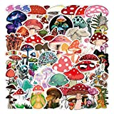 50 Pcs Mushroom Stickers Mushroom Decals for Water Bottle Hydro Flask Laptop Luggage Car Bike Bicycle Helmet Vinyl Waterproof Stickers Pack