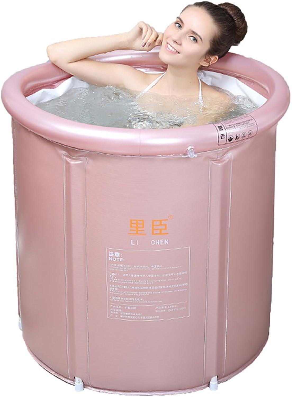 Bathtub Folding Tub Thicker Bath Barrels (gold, Pink, Suitable For Body Weight 80-100KG) Inflatable bathtub ( color   B , Size   7575cm )