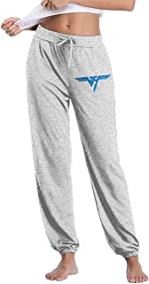 Van Halen Womens Cotton Pants Simple Lounge Pants Women's Drawstring Trousers Loose for Yoga Running Sporting