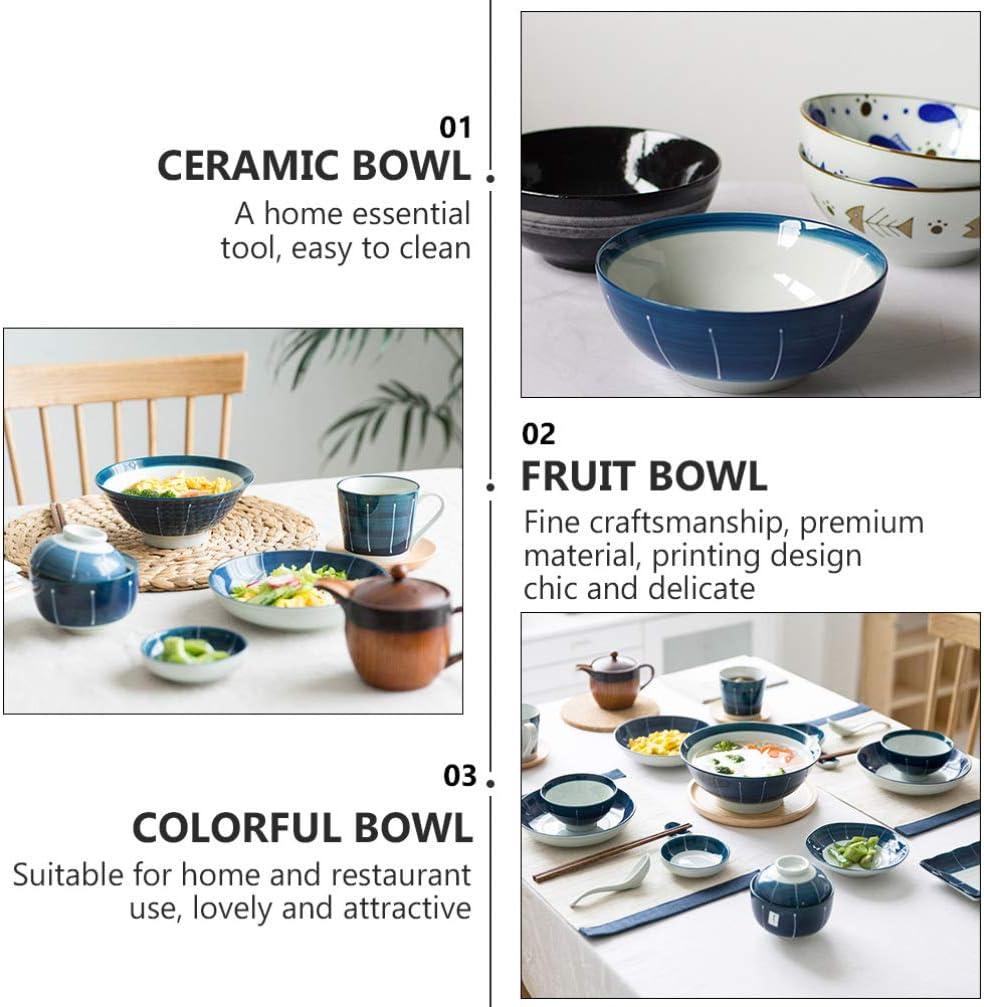 YARNOW Cuenco de Cer/ámica Japon/és para Ramen Cuenco de Sopa Taz/ón de Sopa de Fideos 680Ml