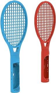 Haihuic テニスラケット ニンテンドースイッチJoy-Conコントローラ用、 ニンテンドースイッチゲームのためのツインテニスラケット マリオテニスエース、 青と赤