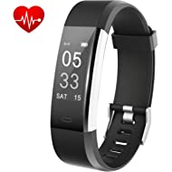 Fitness Tracker, Activity Tracker with Heart Rate Monitor, Waterproof Smart Fitness Watch with...