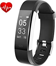 Lintelek Fitness Tracker, Activity Tracker with Heart Rate Monitor, Waterproof Smart Fitness Watch with Sleep Monitor, Step, Calorie Counter, Pedometer Watch for Kids, Women and Men