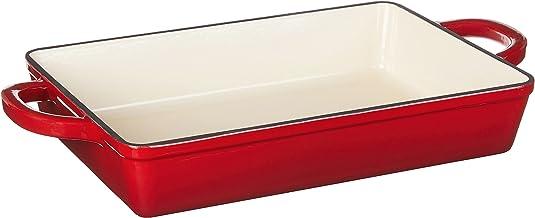 Crock Pot 112006.01 Artisan 13 Inch Enameled Cast Iron Lasagna Pan, Scarlet Red