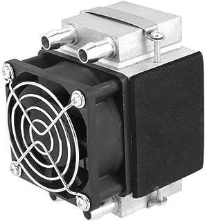 Acondicionador de aire pequeño, Dc12V 108W Ventilador de radiador de enfriamiento de agua de aluminio Semiconductor Congelador de refrigeración electrónico Peltier Acondicionador de aire pequeño