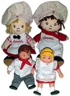 Vintage Collectible Campbell's Soup Kids Dolls Chef Boy and Girl