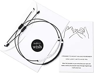 Distance Matching Bracelets for Couples Boyfriend Girlfriend Relationship Pinky Promise..