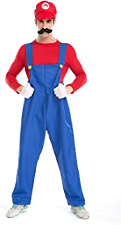 Super Mario Luigi Halloween Costume Super Mario Brothers Fancy Dress Costume for Halloween Christmas Party Cosplay