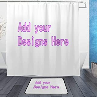 HH&WW Personalized DIY Custom Fabric Waterproof Mildew Shower Curtains (72