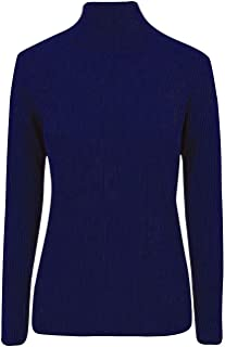 21FASHION Womens Turtle Roll Neck Long Sleeves Ribbed Top Ladies Casual Wear Fancy Jumper