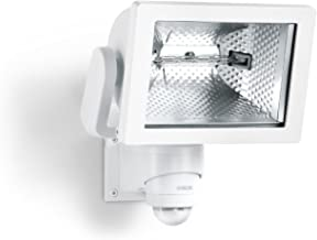 Steinel HS 500 DUO white - Sensor-switched outdoor flood-light with 240° motion detector and max. 20 m reach, Spot-light with powerful ceramic reflector and 400 W halogen lamp, 633516by STEiNEL