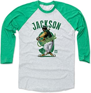 500 LEVEL Reggie Jackson Shirt - Vintage Oakland Baseball Raglan Tee - Reggie Jackson Arch