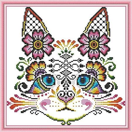 Cross Stitch Kits Stamped Kit 11CT Patterns Fabric Embroidery Needlework 30x40cm