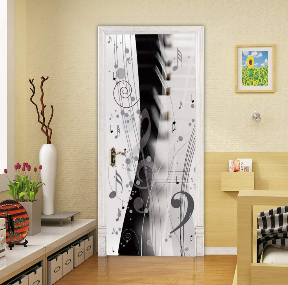 DACDAB 90X200Cm Pegatinas De Puerta Papel Pintado Puertas Nota Creativa Puerta De Pared Mural Calcomanías De Arte Vinilo DIY Habitación De Niños Papel Pintado Decoración del Hogar: Amazon.es: Hogar