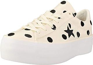 Converse Chaussures de Sport pour Femmes a' Plateforme One Star Ox Cre'me 560696C