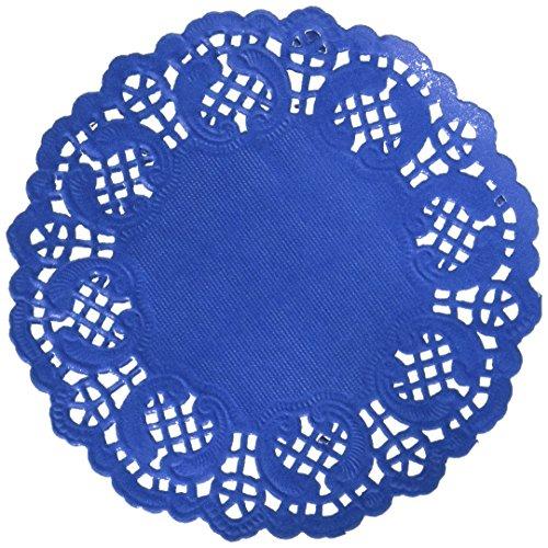 Darice Navy Blue Paper Doilies, 50 Piece