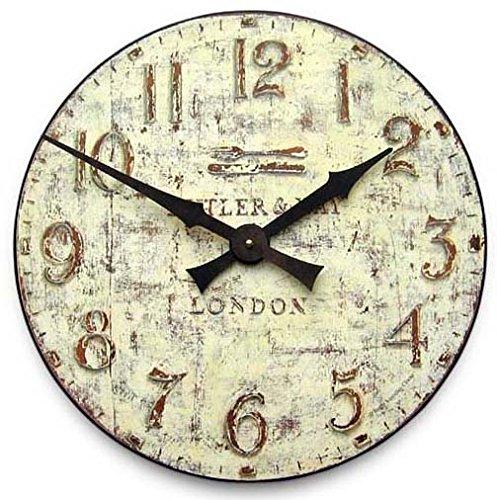 Roger Lascelles Uhr, cremefarben, 50 x 6 x 50 cm